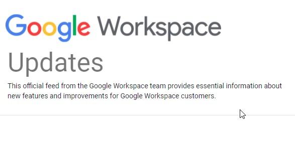 Blog de actualizaciones de la Consola de Administración y todo Google Workspace Perú