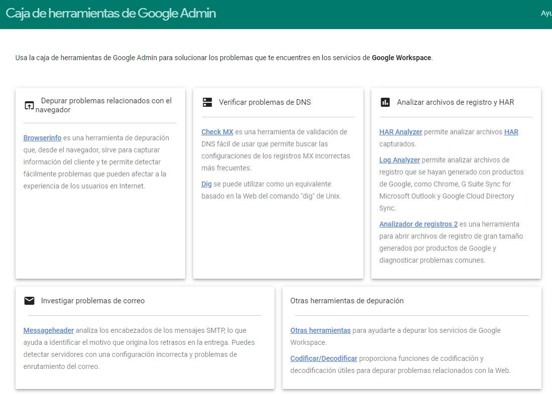 Caja de Herramientas para administradores de Google Workspace Perú